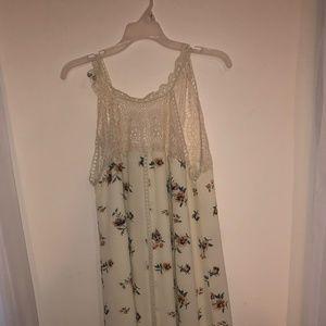 White/ Cream Floral Dress